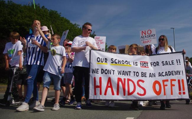 Moulsecoomb Primary School protesters