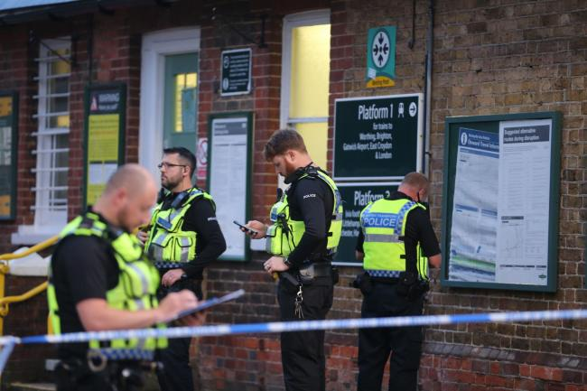 The attack came in the midst of an investigation into a 'wider picture of violence involving and affecting young people in Worthing' which included the stabbing of a 16-year-old boy at Goring Railway Station in October last year (pictured)