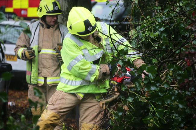 Fire service receives 200 emergency calls in gale force winds