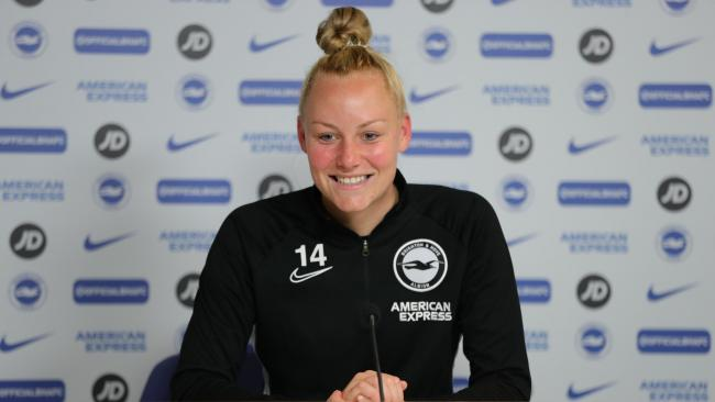 Albion Women's defender Danique Kerkdijk. Picture: Paul Hazelwood/BHAFC.