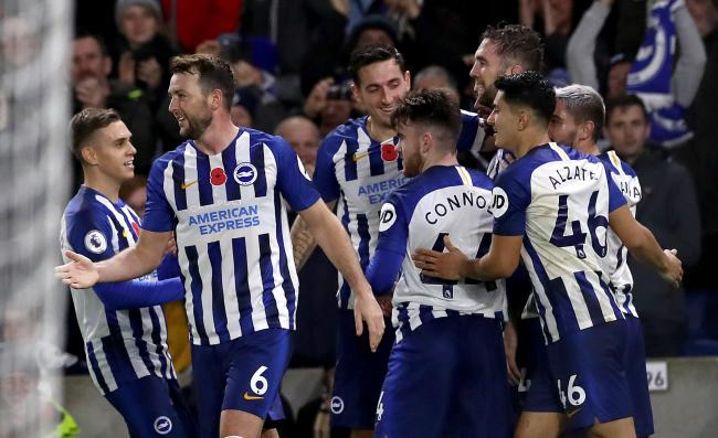 Lewis Dunk at the heart of the celebrations