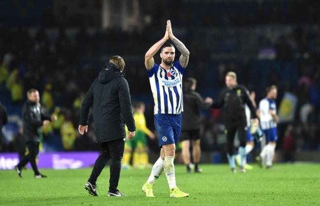 Shane Duffy has praised his Albion teammate Leandro Trossard. Picture: Simon Dack.