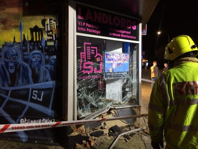 Car smashes into estate agents in Lewes Road, Brighton