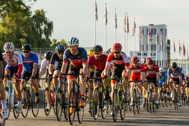 A previous cycling event at Goodwood