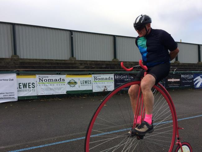 Penny Farthing record attempt
