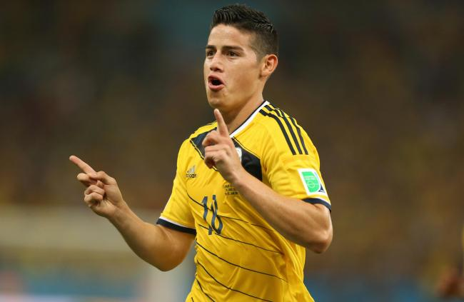 Steven Alzate will not feature alongside James Rodriguez(pictured) if he does feature for Colombia against Peru. Picture: Mike Egerton.