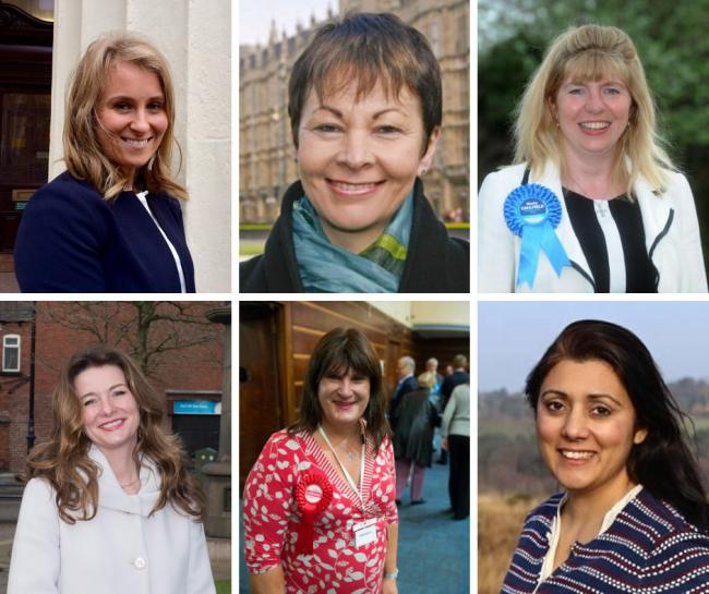 ALex Phillips, Caroline Lucas, Maroia Caulfield, Gillian Keegan, Sophie Cook and Maria Caulfield are amongst the 29 women standing for election in Sussex at the 2019 General Election