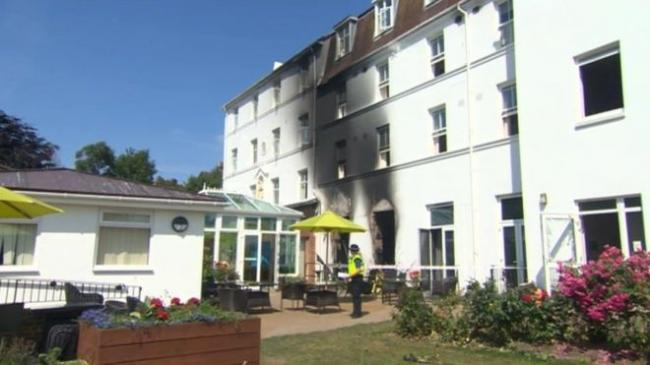 The hospice has been rebuilt since the fire nearly three years ago