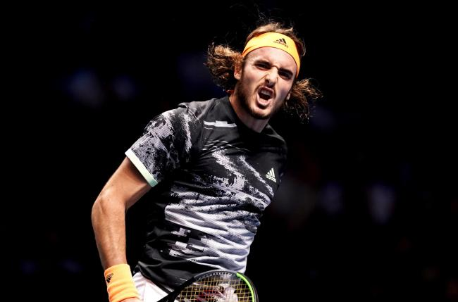 Stefanos Tsitsipas triumphed at the 02
