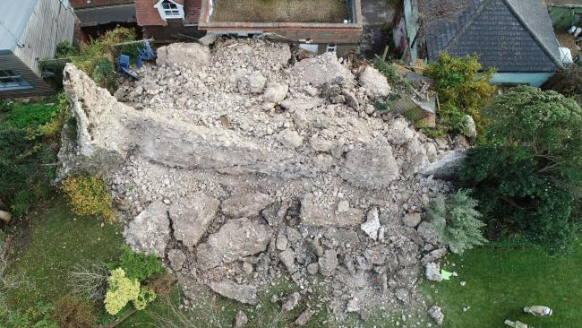 Emergency work will be undertaken on a collapsed Lewes Castle wall