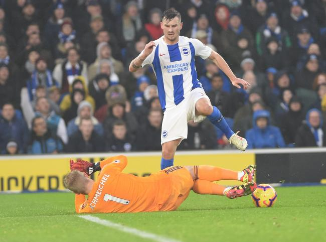 Pascal Gross was  wrongly ruled offside in last season's meeting at the Amex.