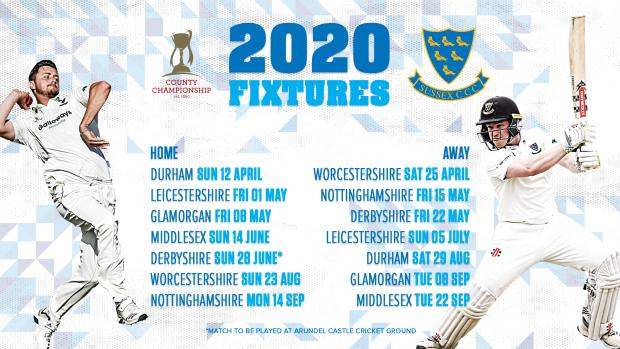 The Argus: Sussex's County Championship fixtures