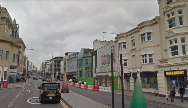The incident happened in West Street, Brighton, picture from Google