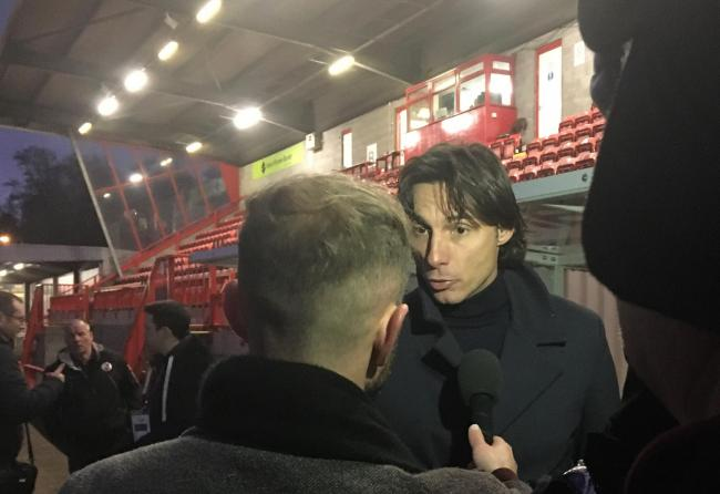 Gabriele Cioffi talked to the Press after Sunday's defeat