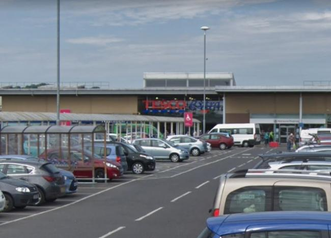 The incident happened at Tesco in Durrington