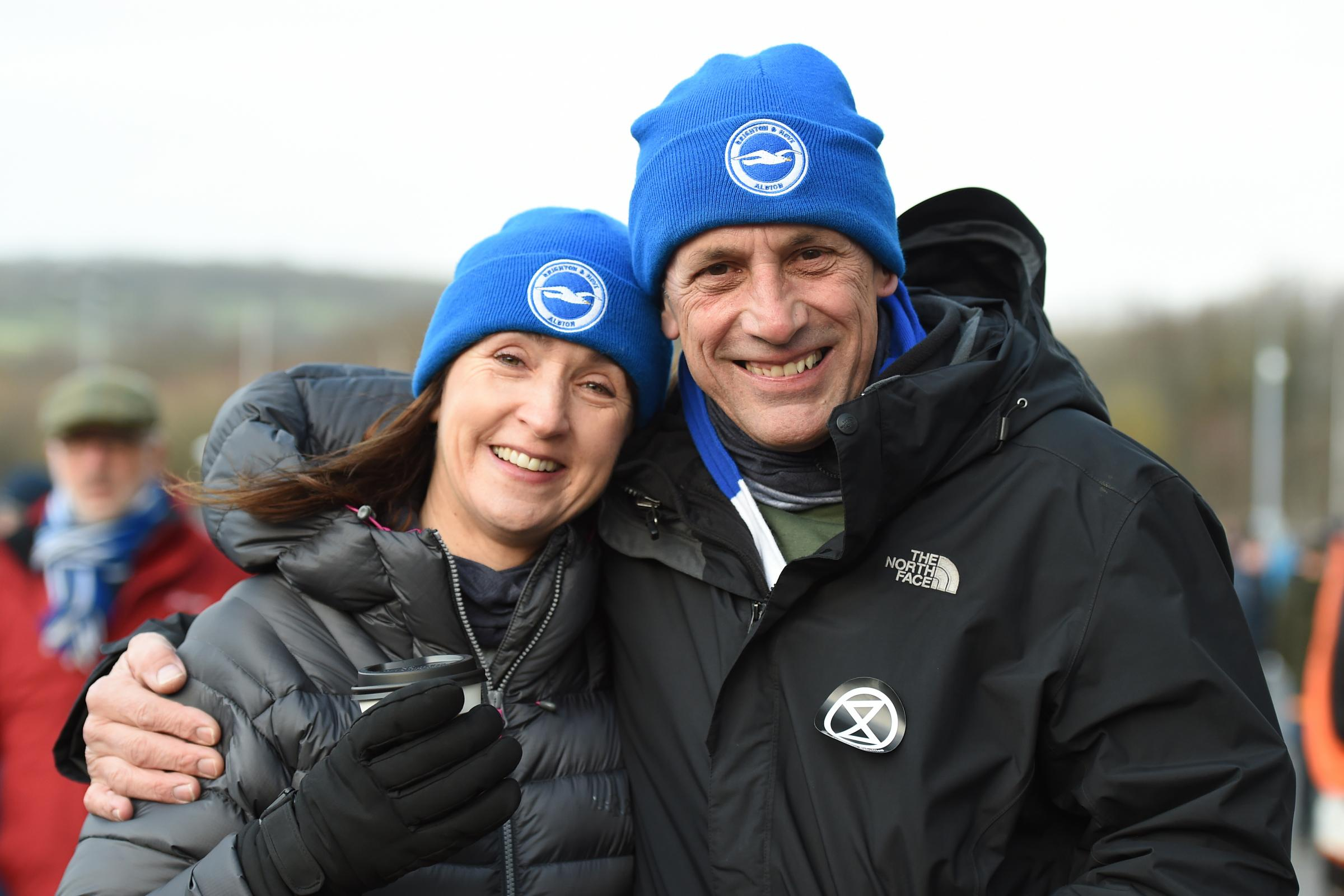 FAN PICTURES: Supporters were out in force to see Albion take on Wolves at the Amex