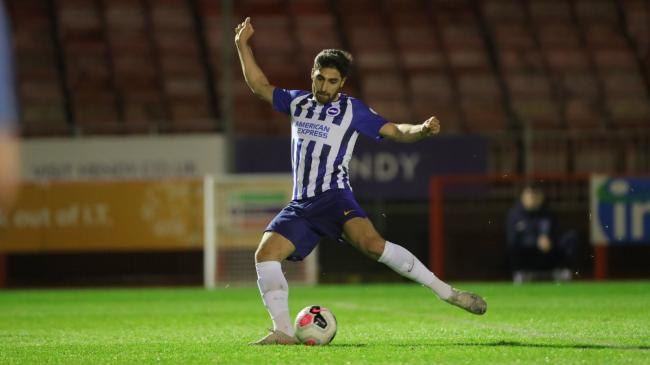 Alireza Jahanbakhsh in action for the under-23s. Picture: Paul Hazlewood