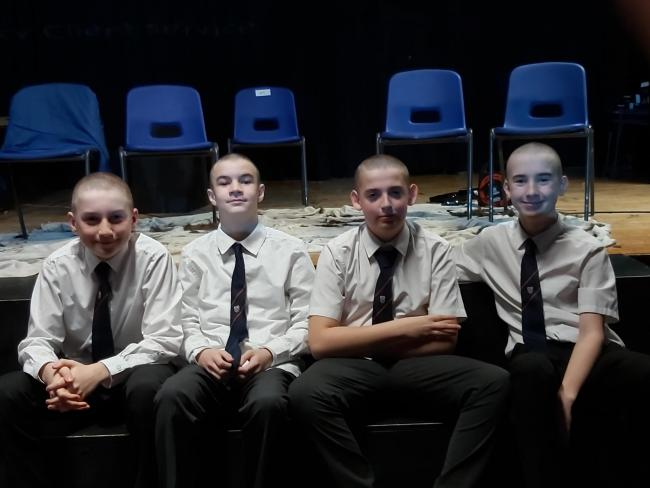 Year 9 pupils from Longhill High School have shaved their heads for Cancer Research UK