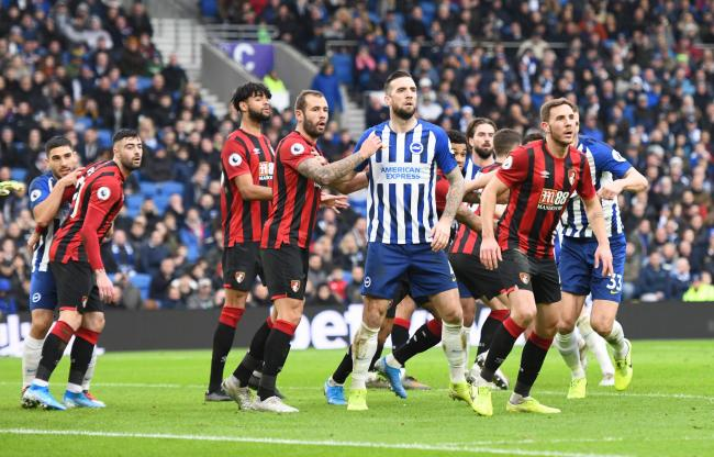 Shane Duffy was in the thick of it against Bournemouth