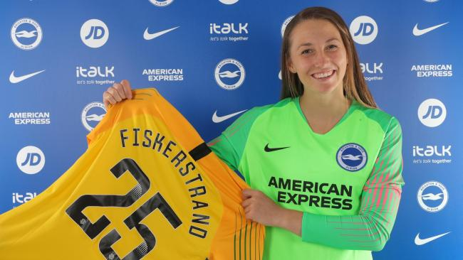 Cecilie Fiskerstrand is ready to stake her claim for the No.1 shirt. Picture: Paul Hazlewood/BHAFC.