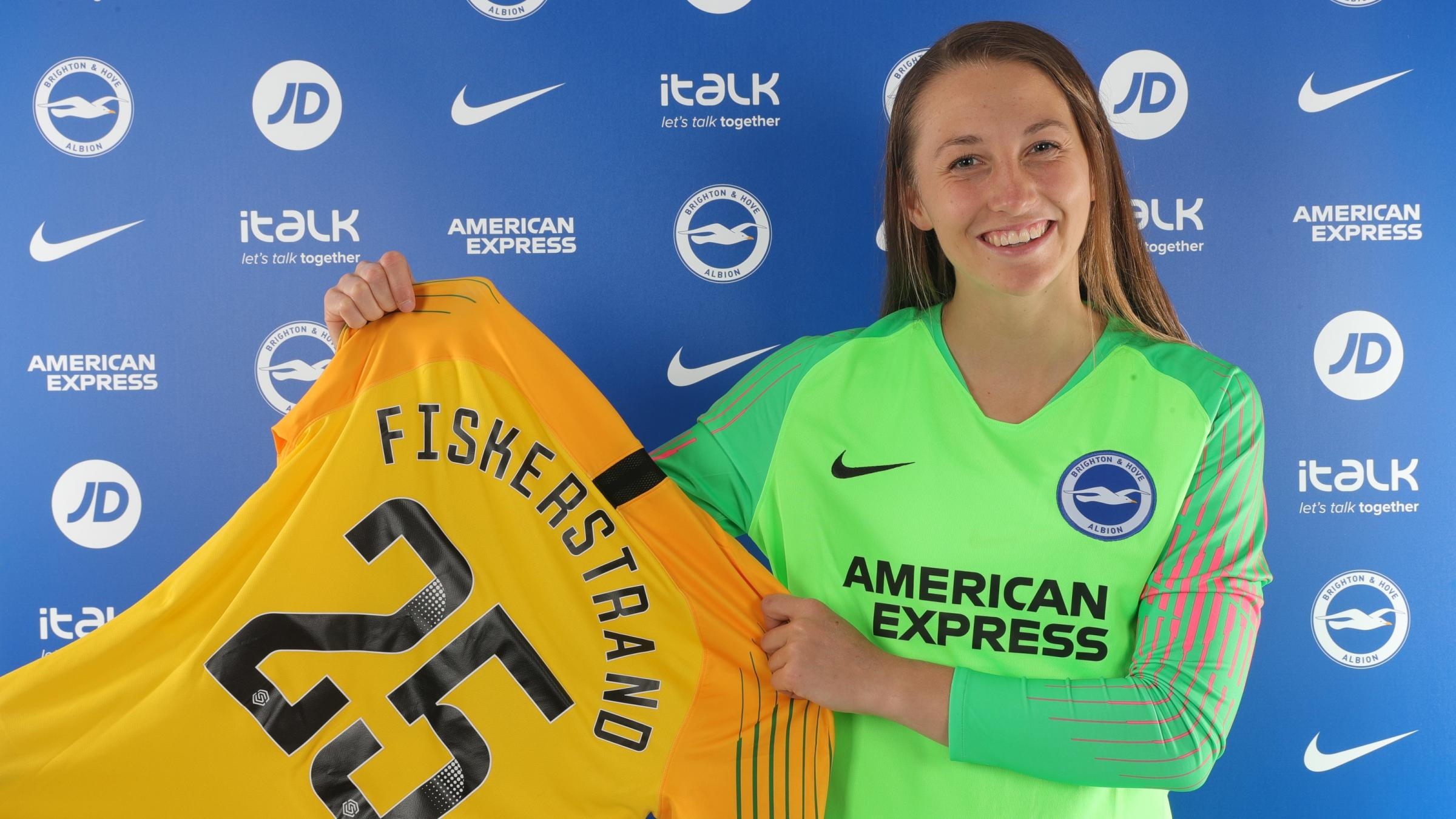 Cecilie Fiskerstrand ready for her first Albion minutes