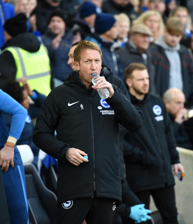 Graham Potter did not have Glenn Murray available due to injury