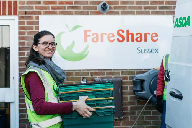 Food charity FareShare Sussex has launched training for jobseekers Photo: Emma Croman