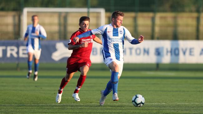 Anders Dreyer in action for Albion under-23s.  Picture: Paul Hazlewood/BHAFC