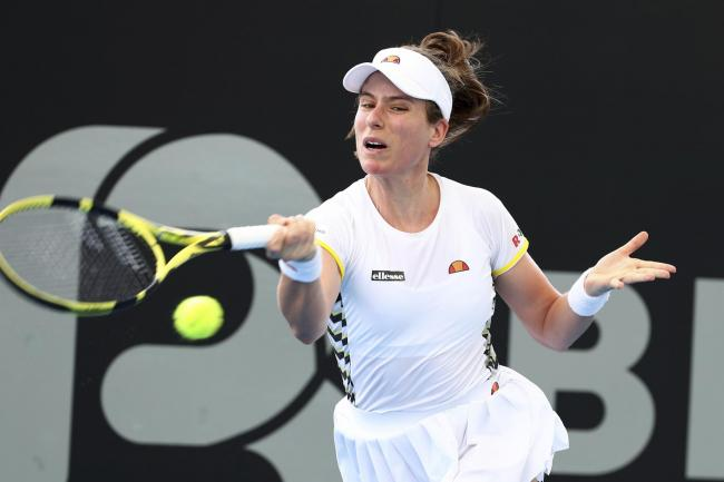 Jo Konta has gone out at the first hurdle