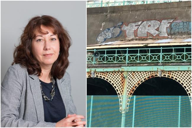 Nancy Platts. left, Madeira Terrace, right