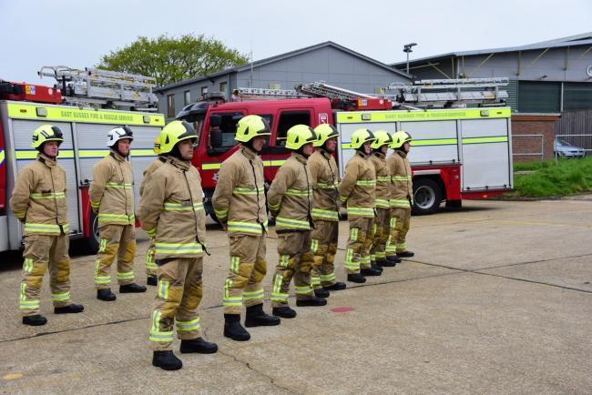 Firefighters from Sussex