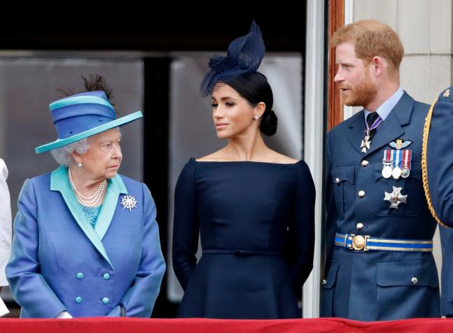 The Duke and Duchess of Sussex with the Queen