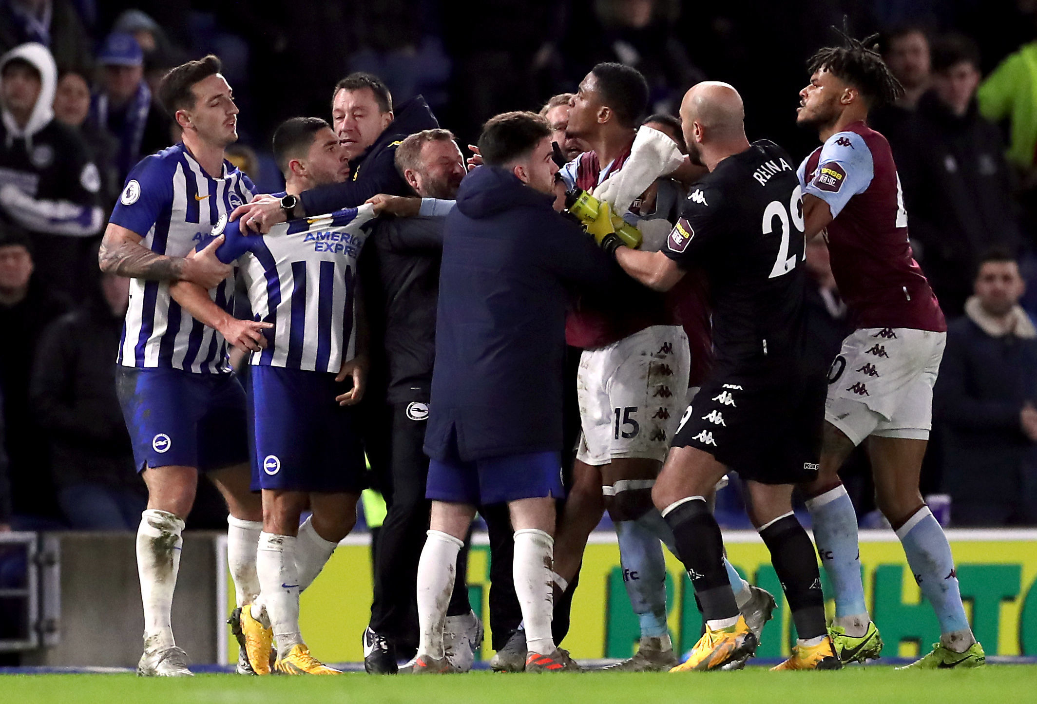 Bosses past and present stick up for Neal Maupay after scuffle