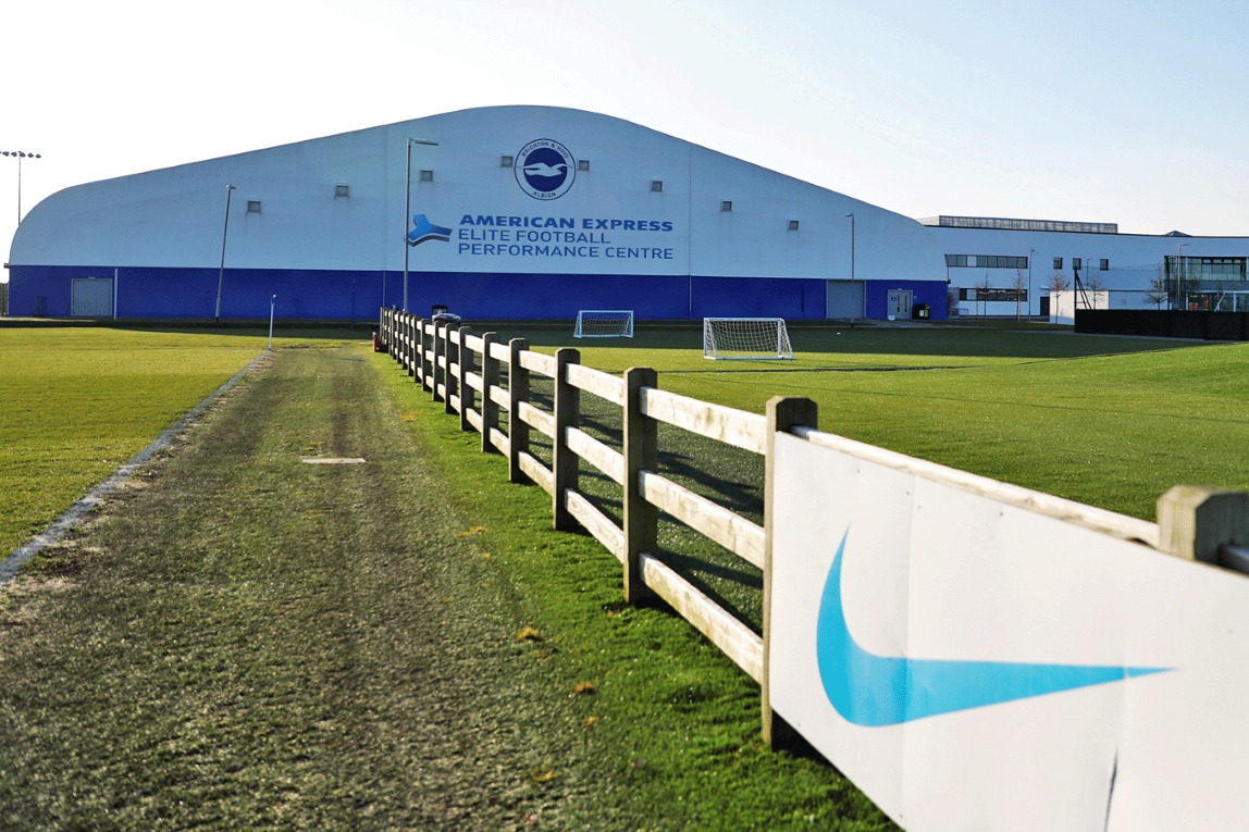 Helicopter lands on Albion training pitch after player's head injury