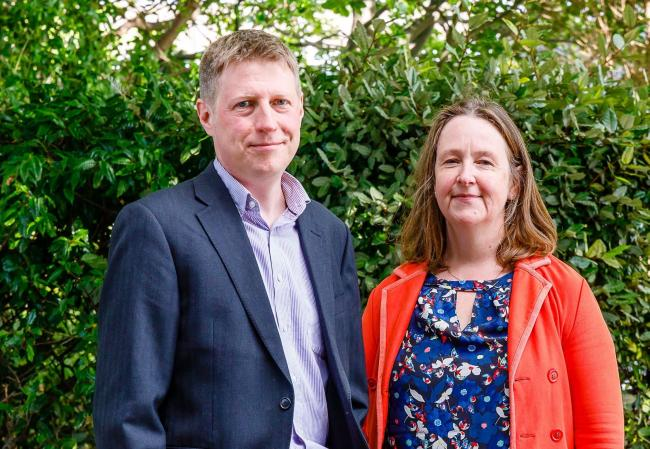 Lewes District Council deputy leader James MacCleary and leader Zoe Nicholson