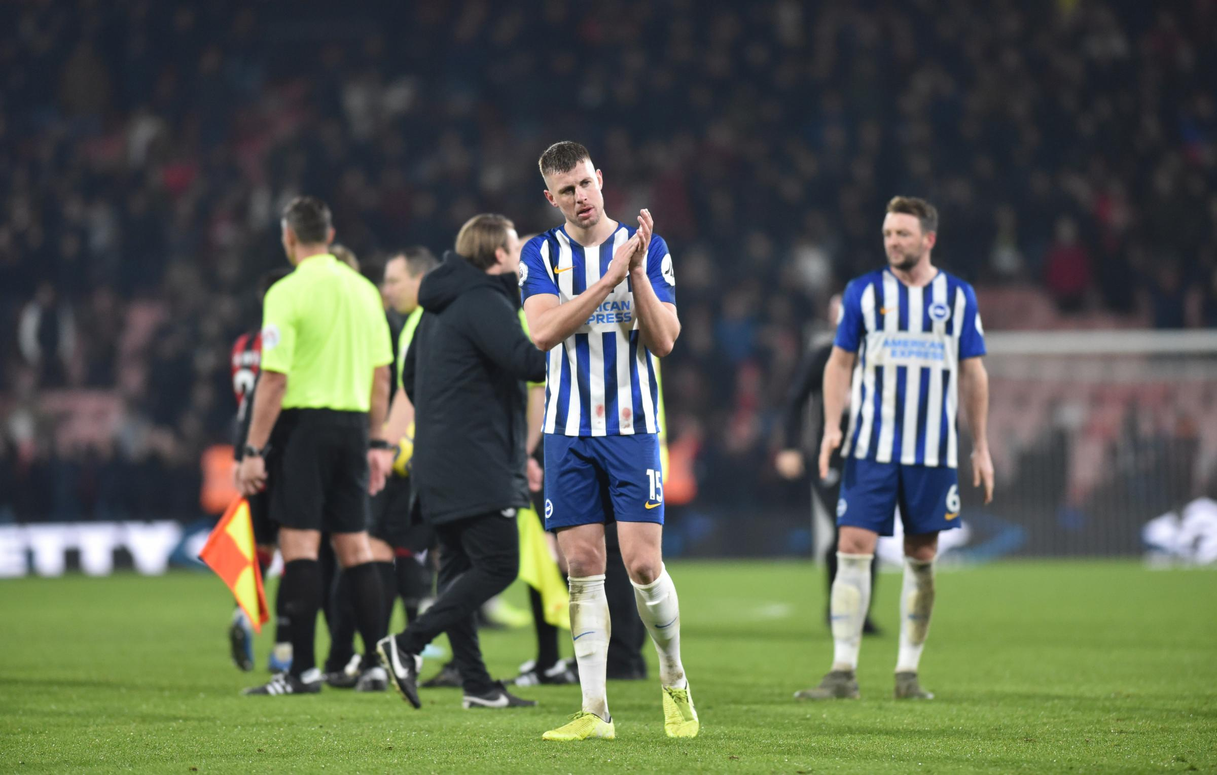 How were Albion's players rated in the defeat to Bournemouth