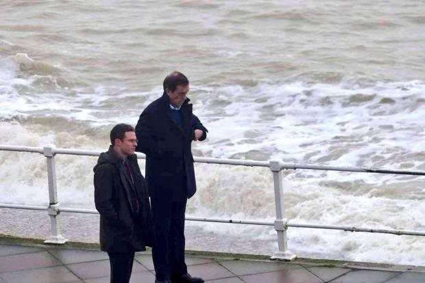 The Argus: Hugh Laurie filming in Hastings earlier this year