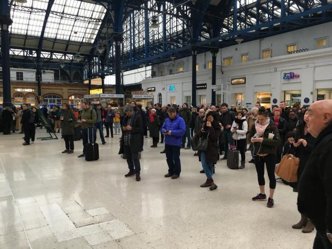 Passengers delayed at Brighton station