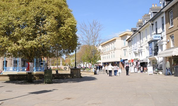 Horsham has been named one of the happiest places to live in the UK