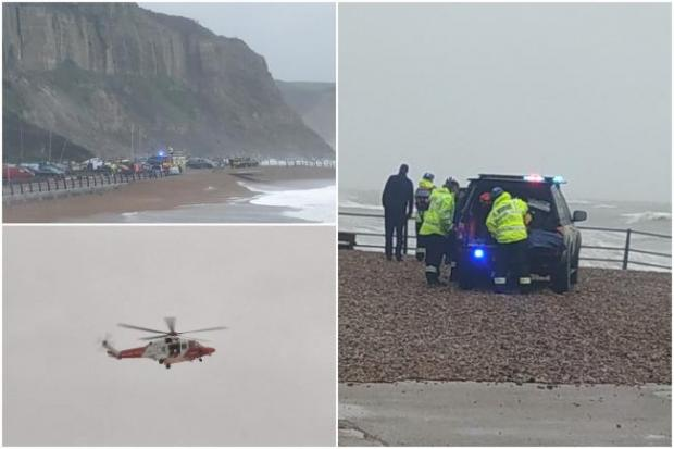 The Argus: The coastguard helicopter was called and a coastline search was also launched