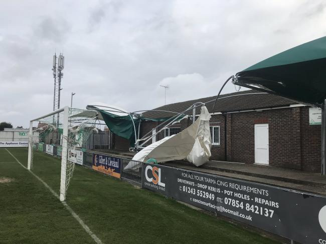 The scene at Nyewood Lane. Picture: Bognor Regis Town FC.