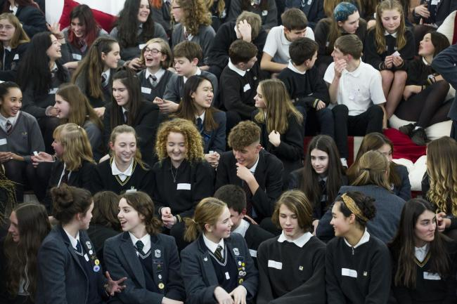 The pupils at Roedean School