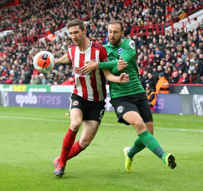 Glenn Murray joined Neal Maupay in attack against Sheffield United. Picture: Richard Parkes
