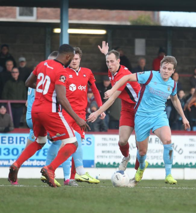 National League South side Eastbourne Borough in action. Picture: Mark Probin.