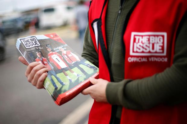 The Argus: The Big Issue sellers have been unable to get out on the streets for two months. Photo: Paul Harding