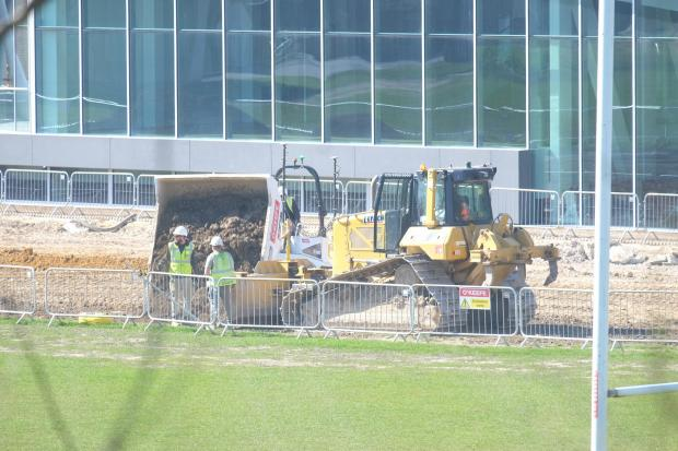 The Argus: Work continued on Brighton College's new playing field yesterday