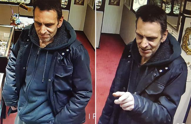 Police are looking for this man in connection with the theft of a pensioner's bank card