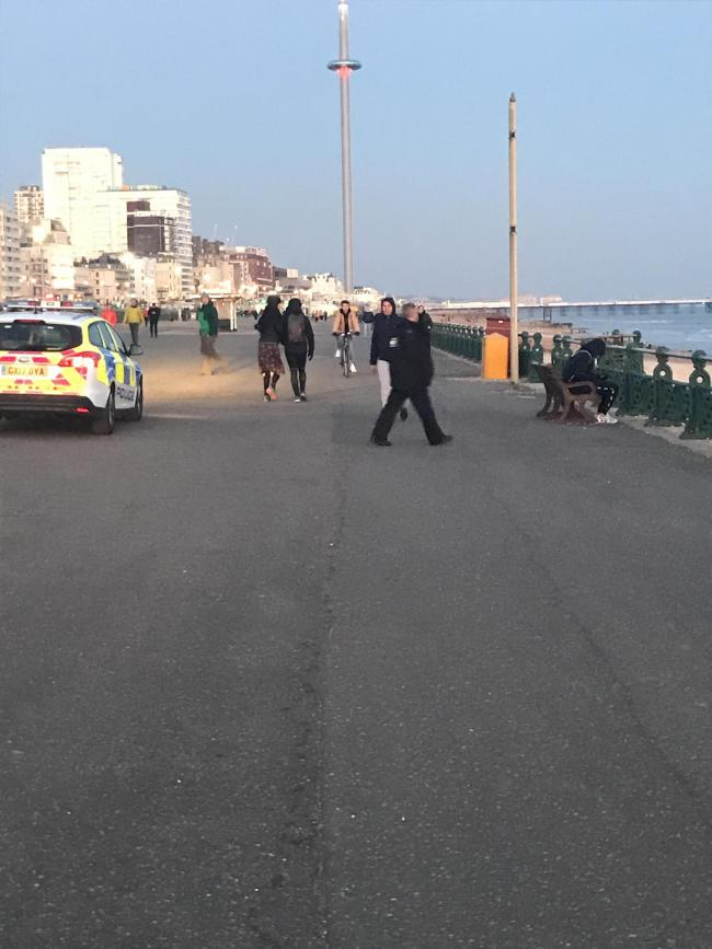 Police in Hove tonight