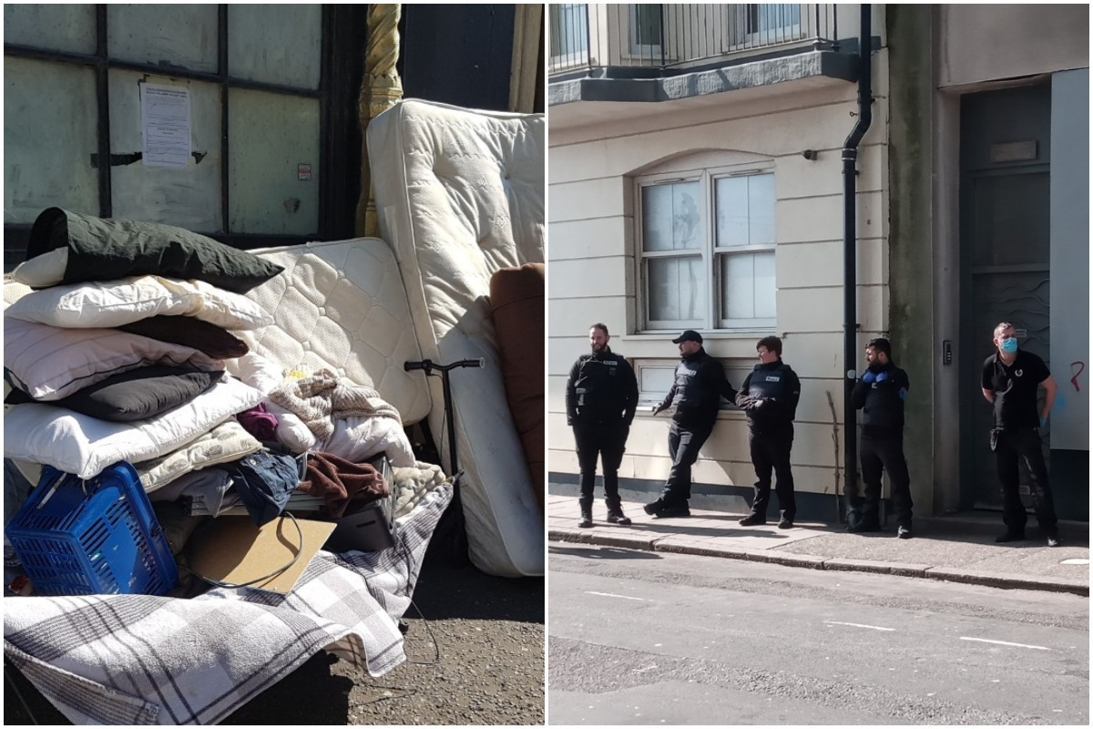 Coronavirus: Squatters evicted from Middle Street