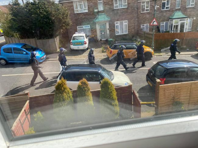 Armed police attending Hangleton incident